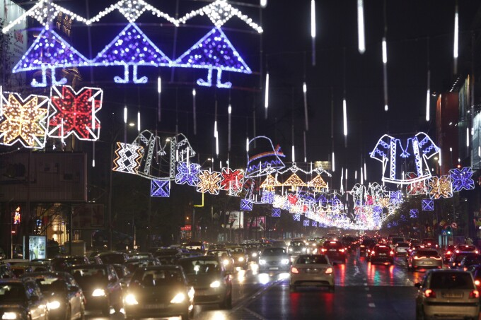 luminite de sarbatori in Bucuresti