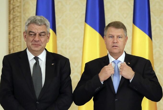 Mihai Tudose si Klaus Iohannis