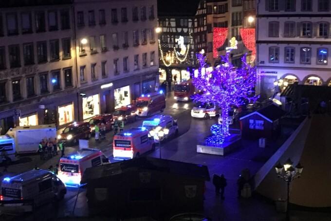 Atac armat la Strasbourg, în apropierea Târgului de Crăciun