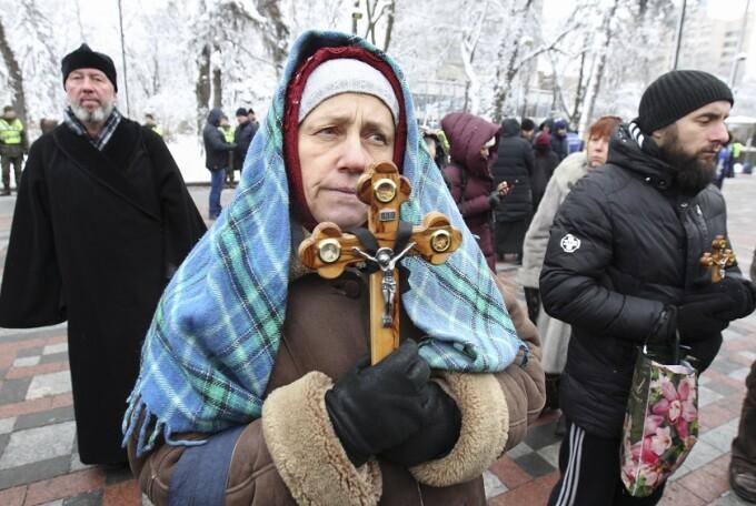 credincioşi pro-ruşi în Ucraina