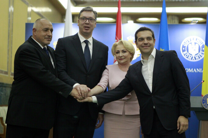 Boiko Borisov, Aleksandar Vucic, Viorica Dancila, Alexis Tsipras