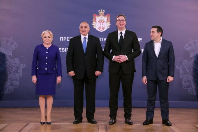 Aleksandar Vucic, Boico Borisov, Alexis Tsipras, Viorica Dancila