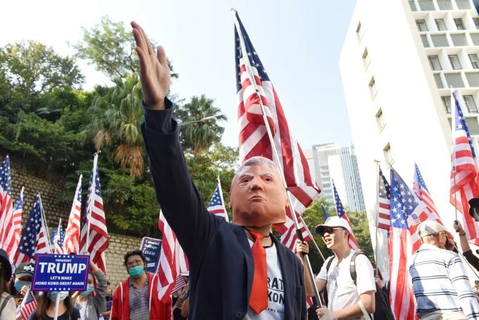 Manifestatii la Hong Kong