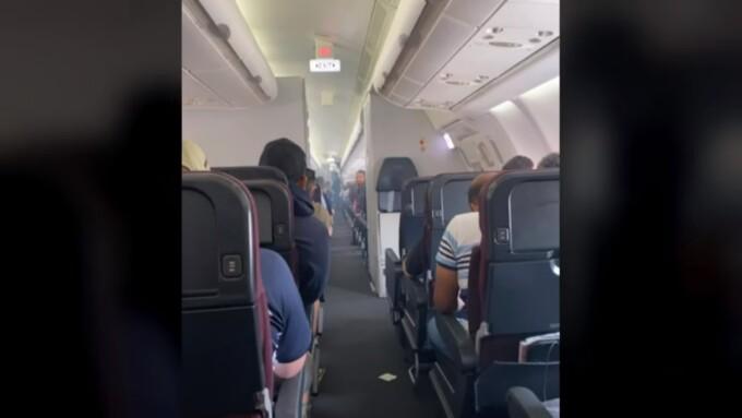 Avion plin cu fum