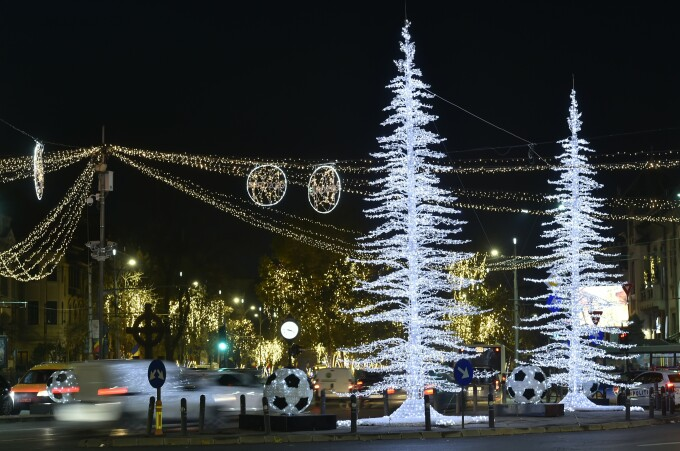 iluminat festiv in Bucuresti