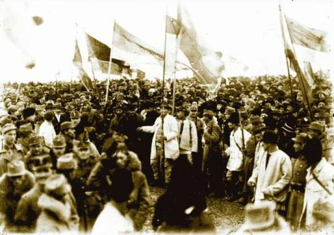 Mulțimile venite la Marea Adunare Națională