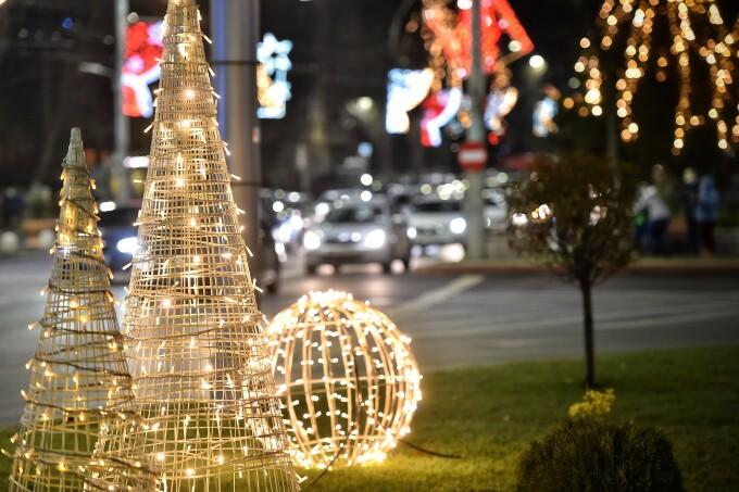 Aprinderea luminițelor de sărbători în Sectorul 4 al Capitalei