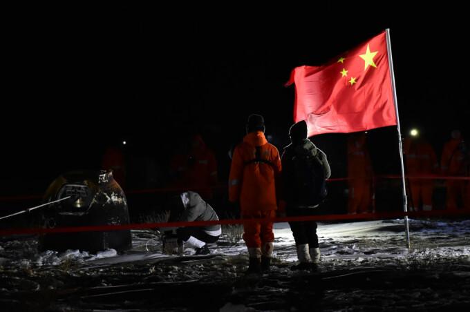 Sonda chineză cu mostre de pe Lună s-a întors pe Terra