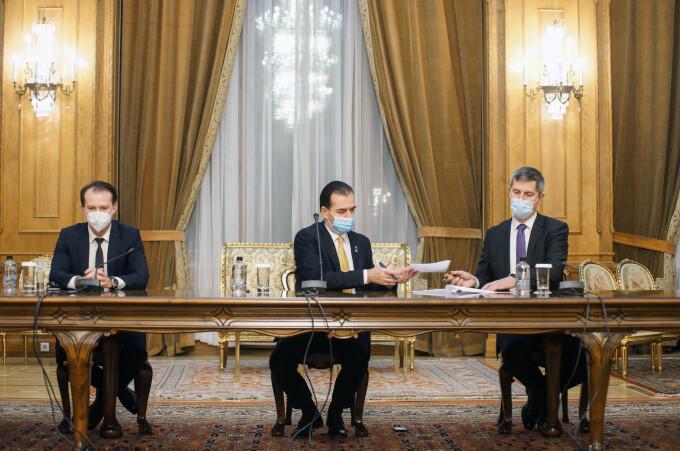 Florin Cîțu, Ludovic Orban și Dan Barna