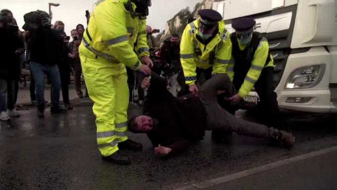 Șofer blocat la Dover