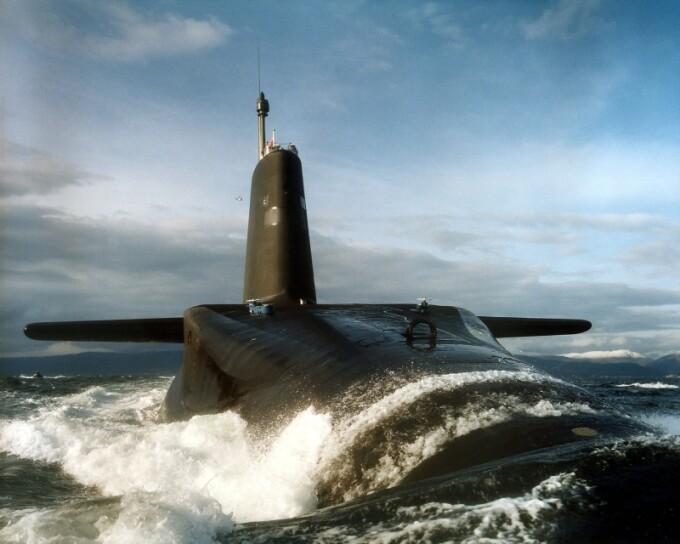 Submarinul nuclear Vanguard, apartinand Marii Britanii