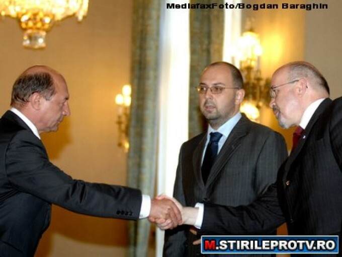 Traian Basescu, Kelemen Hunor si Marko Bela