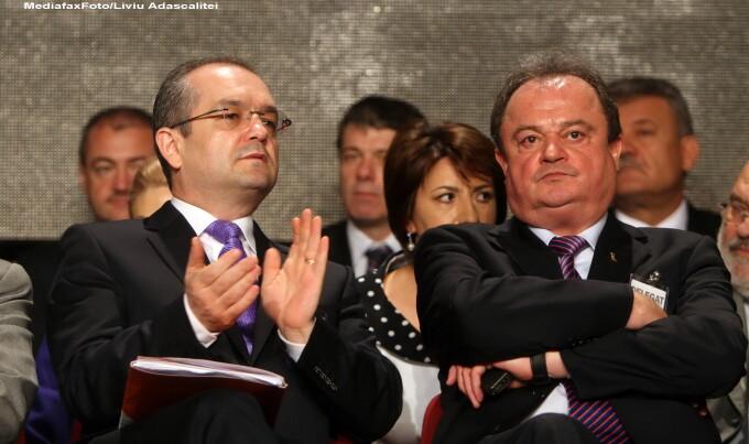 Emil Boc si Vasile Blaga