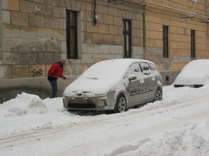 a treia zi cu zapada la Timisoara