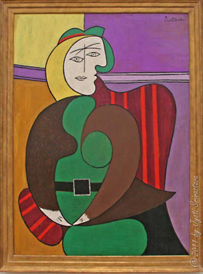 tablou de Picasso, Fotoliul Rosu