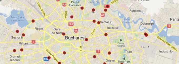 Harta Punctelor Negre Din Bucuresti Unde Au Avut Loc Cele Mai