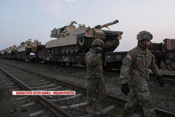 sosirea militarilor americani la baza Mihail Kogalniceanu