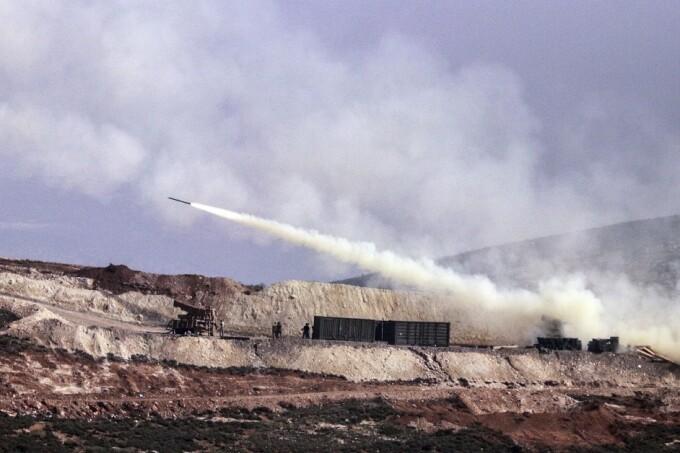 atac cu rachete al armatei turce in Afrin