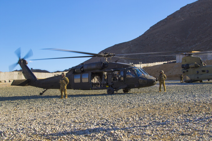 elicopter al fortelor SUA in Afganistan