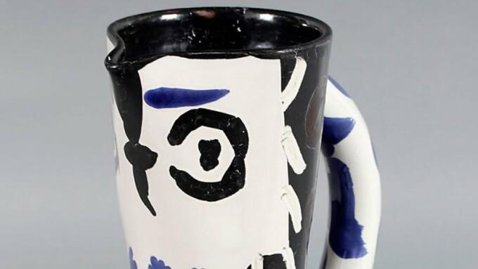 ceramica Picasso uitata in tren