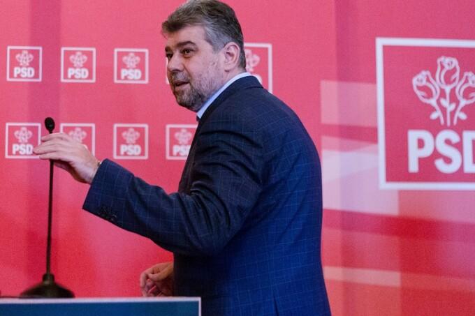 Marcel Ciolacu soseste la sedinta Comitetului executiv National al Partidului Social Democrat