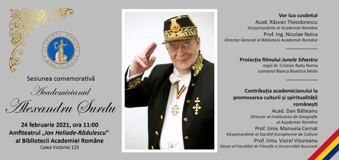 """Sesiune comemorativă """"Academicianul Alexandru Surdu"""""""