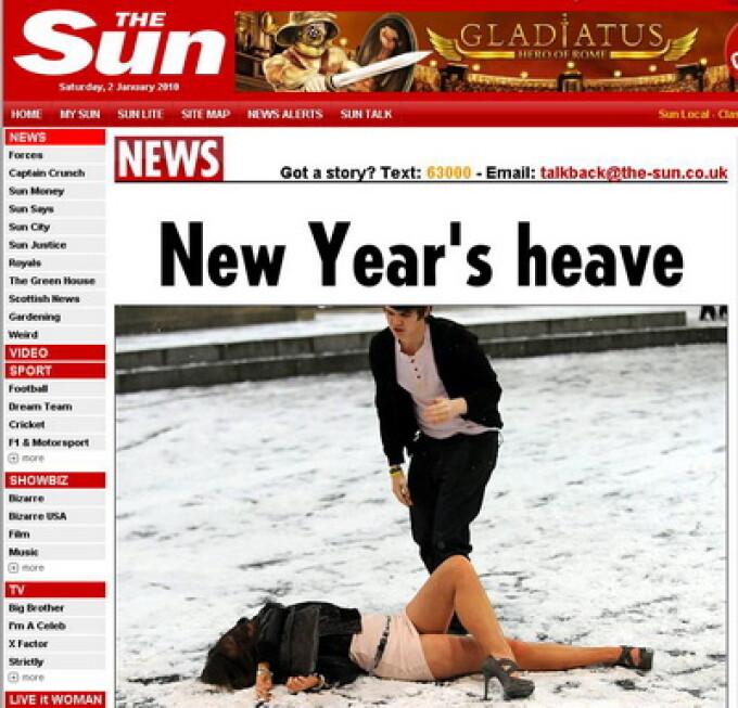 Britanicii au sarbatorit trecerea in Noul An cu mult... alcool!