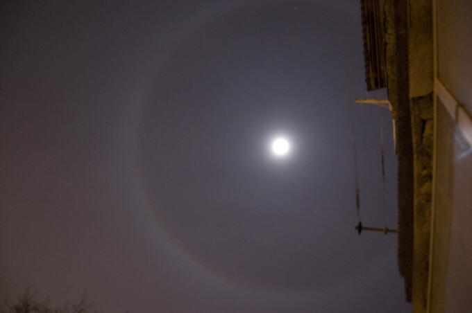 Cerc in jurul Lunii! Imagini impresionante de la utilizatori