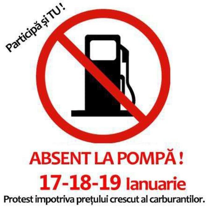 Protest impotriva preturilor la benzina