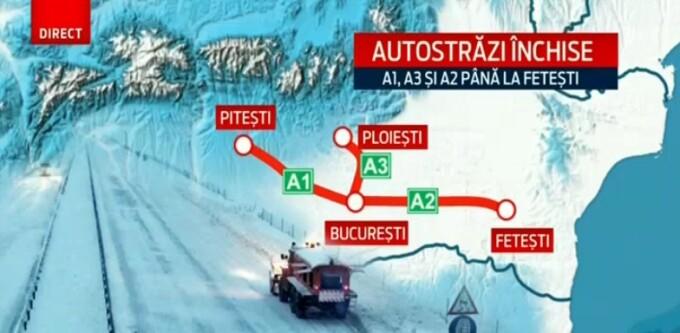 harta drumurilor blocate