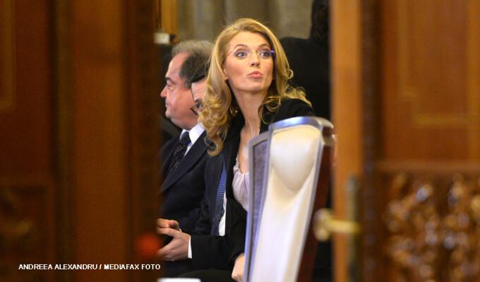 Vasile Blaga si Alina Gorghiu in parlament