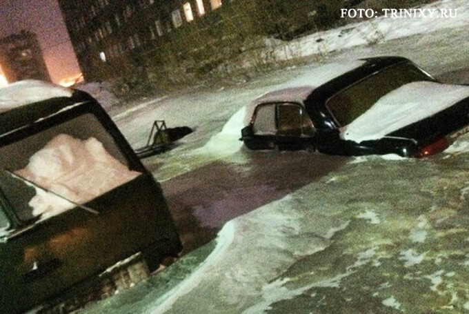gheata pe strazi in Dudinka, Siberia