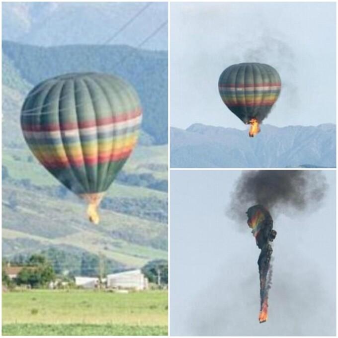 accident balon Noua Zeelanda
