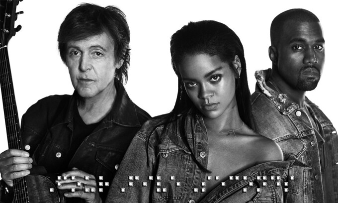 Rihanna, Paul McCartney, Kanye West