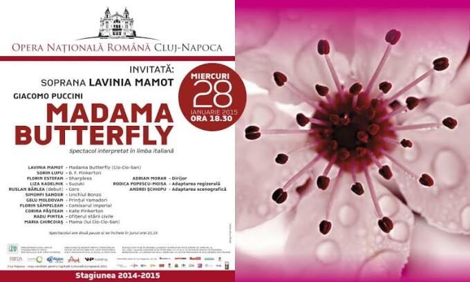 """Un nou zbor liric al """"Madamei Butterfly"""" pe scena operei clujene"""