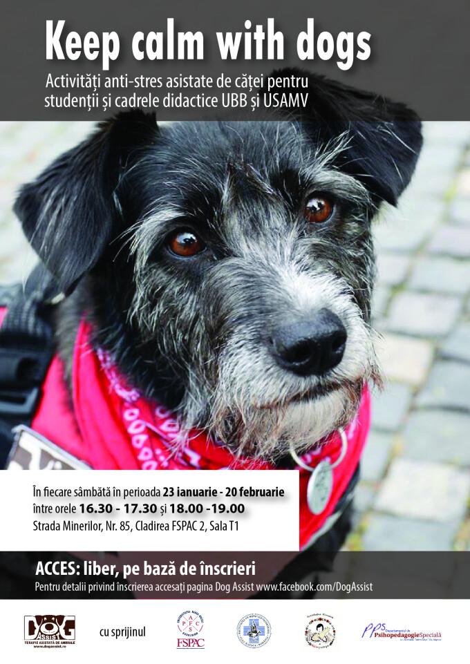 "Programul ""Keep Calm with Dogs″, desfasurat la FSPAC Cluj"