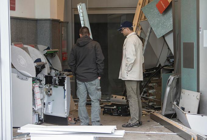 ATM explodat