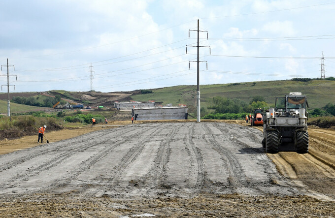 Santierul autostrazii Sebes - Turda