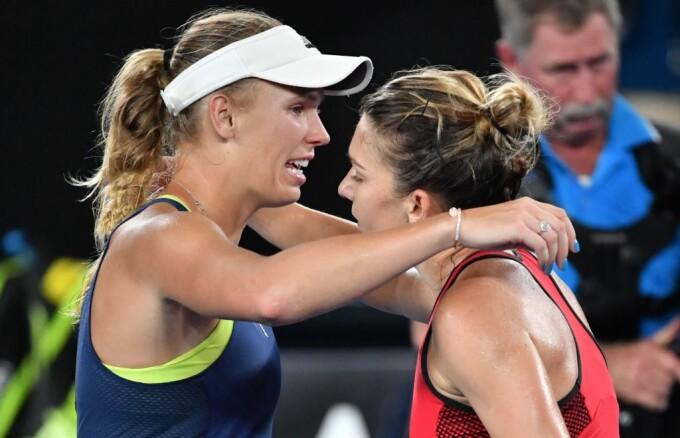 Simona Halep și Caroline Wozniacki