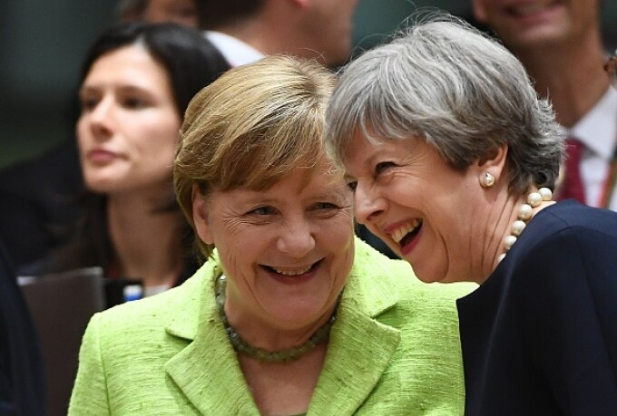 Angela Merkel, Theresa May