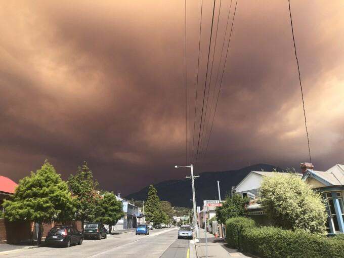 incendiu tasmania