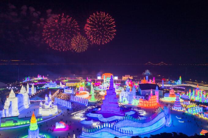 Imagini de basm la Festivalul de gheață Harbin, din China