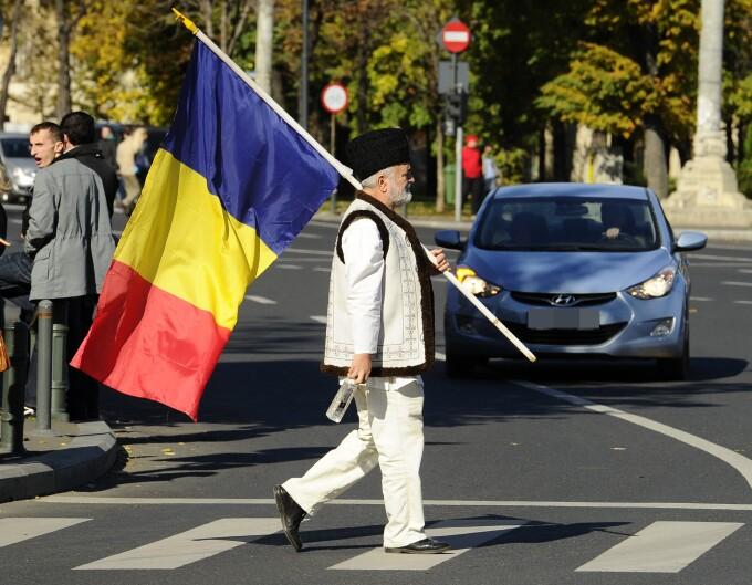 Romania, pensionar, drapel