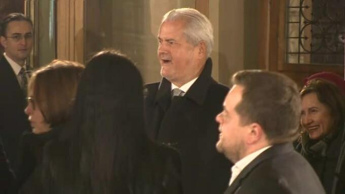 Adrian Năstase la ceremonia de la Ateneu