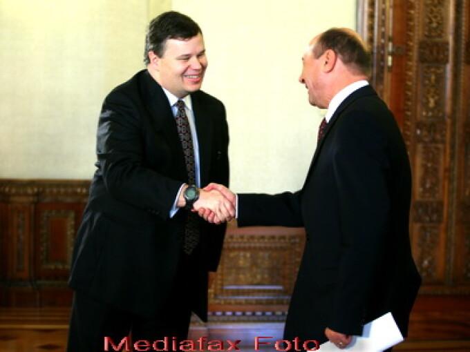 Jeffrey Franks si Traian Basescu