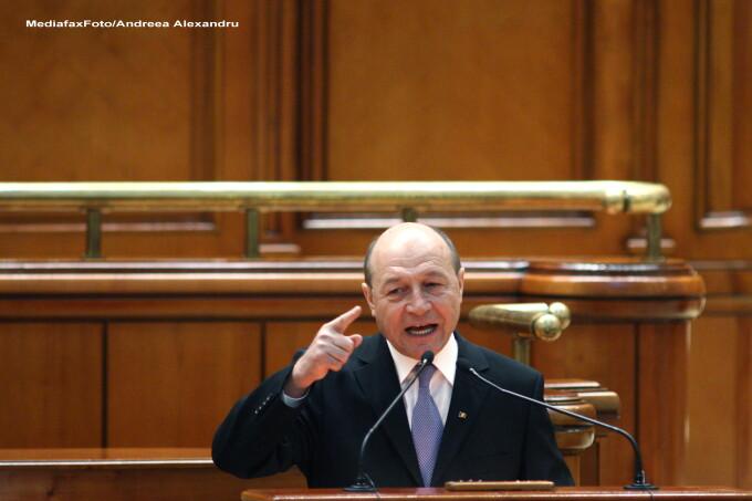 Traian Basescu in Parlament