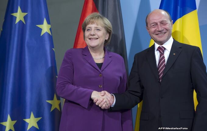 Angela Merkel si Traian Basescu