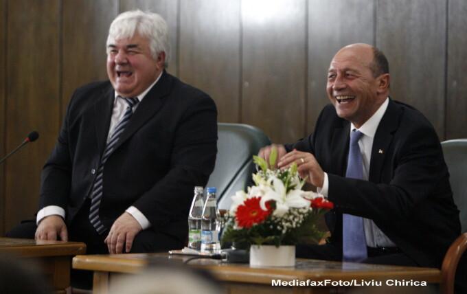 Traian Basescu si Constantin Simirad