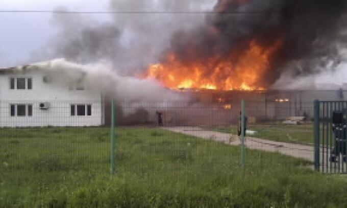 incendiu fabrica de ciocolata Beius