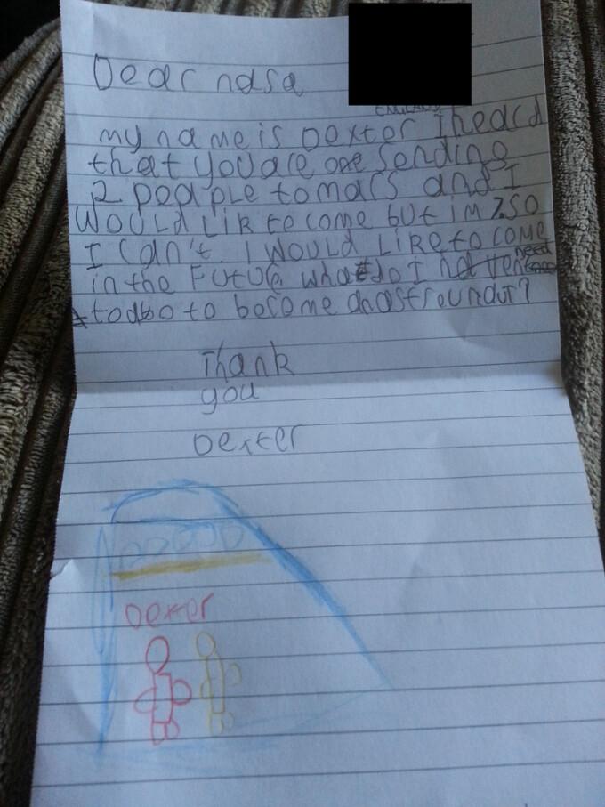 scrisoare nasa